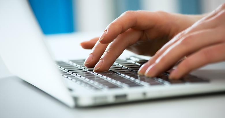 Typing On Keyboard Customer Service Train...